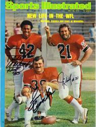 Larry Csonka, Jim Kiick, & Paul Warfield Miami Dolphins Autographed New Life Sports Illustrated - Mounted Memories