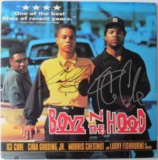 Cuba Gooding, Jr. & Ice Cube Signed Boyz N The Hood Laser Disc PSA/DNA #AA63611