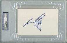 Cuba Gooding Jr Signed 4X6 Index Card Autographed PSA/DNA Slabbed