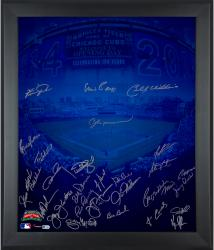 Chicago Cubs Autographed 20'' x 24'' Framed In Focus Photograph with Multiple Signatures-#100 of a Limited Edition of 100