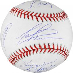Chicago Cubs 8 Pitchers Autographed Baseball - Mounted Memories