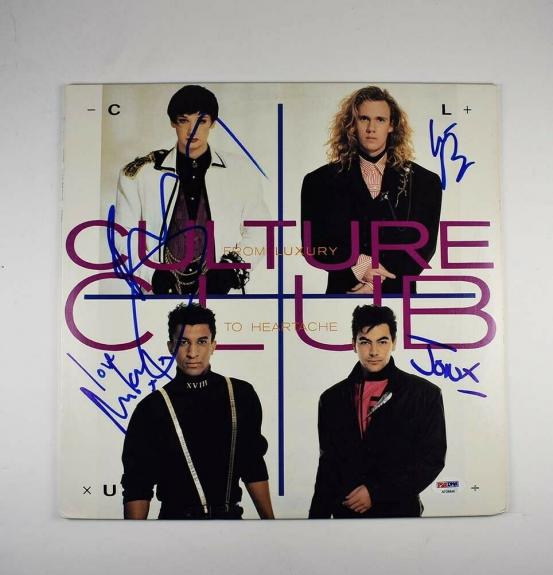 Culture Club Autographed Signed Album LP Record Certified Authentic PSA/DNA COA