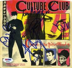 Culture Club Band by 4 Autographed Signed 45 Record LP Authentic PSA/DNA COA