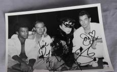 "Culture Club Boy George Signed ""Love"" 8×6 Photo Roy Hay Jon Moss Mikey Craig"