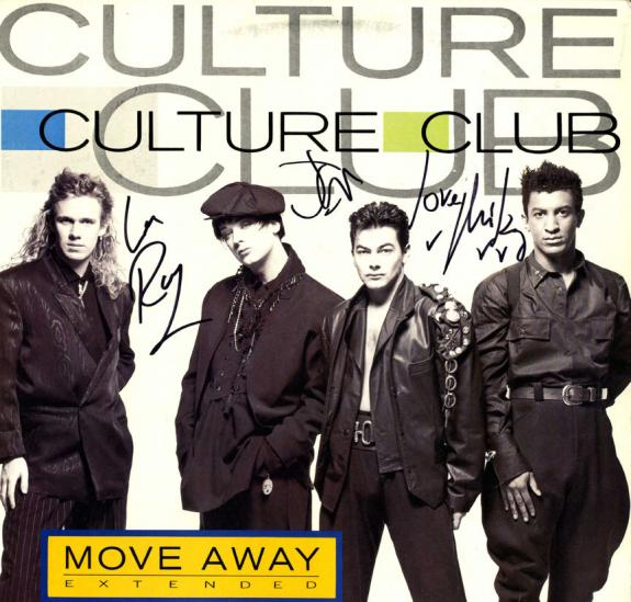 Culture Club X3 Signed Move Away Album Cover AFTAL UACC RD COA