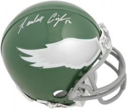 Randall Cunningham Philadelphia Eagles Autographed Riddell Throwback Mini Helmet - Mounted Memories