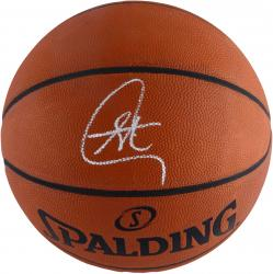Stephen Curry Golden State Warriors Autographed Spalding Official Game Basketball - Mounted Memories