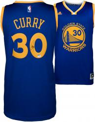 Stephen Curry Golden State Warriors Autographed adidas Swingman Blue Jersey - Mounted Memories