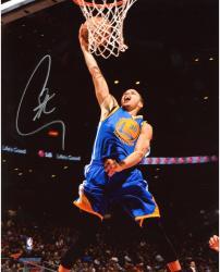 "Stephen Curry Golden State Warriors Autographed 8"" x 10"" Blue Uniform Dunk Photograph"