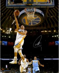 """Stephen Curry Golden State Warriors Autographed 16"""" x 20"""" Under Basket Photograph"""