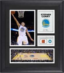 """Stephen Curry Golden State Warriors Framed 15"""" x 17"""" Collage with Team-Used Ball"""