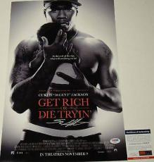 Curtis 50 Cent Jackson Get Rich Or Die Tryin Signed 12x18 Poster Psa/dna Y58317