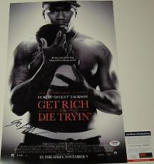 Curtis 50 Cent Jackson Get Rich Or Die Tryin Signed 12x18 Poster Psa/dna Y58318