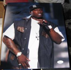 Curtis Jackson 50 Cent Rapper Hip Hop Signed Autographed 11x14 Photo Jsa #q41233
