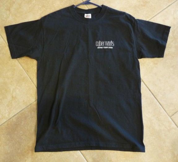 Cybernauts 2001 Def Leppard Japan Crew Only T Shirt Large RARE Joe Elliot Bowie