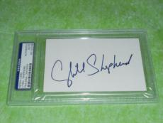 Cybill Shepherd Signed 3 X 5 Index Card Autographed In-person Psa/dna Slabbed