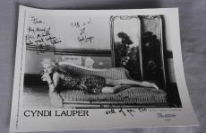 Cyndi Lauper Signed & Inscribed 8×10 Photo by Annie Leibovitz – COA