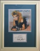 CYNDI LAUPER (Time after Time) signed/framed photo display-JSA Auth