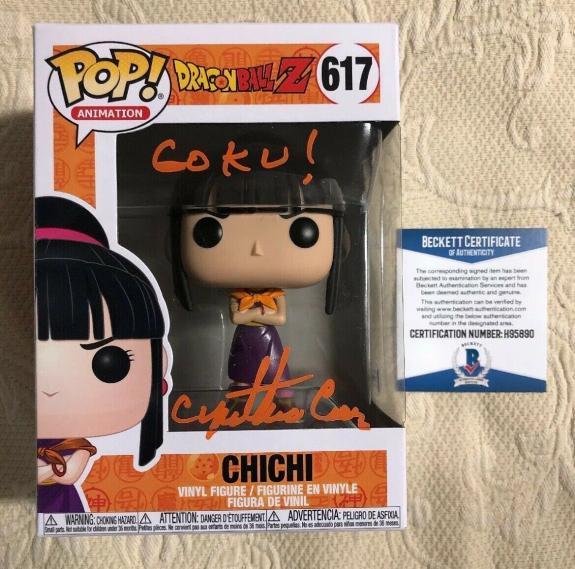 Cynthia Cranz  Signed Autographe Chi Chi Funko Pop Dragon Ball Z BECKETT COA 19