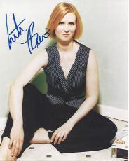 "CYNTHIA NIXON as MIRANDA HOBBES on TV Series ""SEX and the CITY"" Signed 8x10 Color Photo"