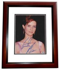 Cynthia Nixon Autographed SEX AND THE CITY 8x10 Photo MAHOGANY CUSTOM FRAME