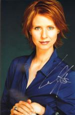 CYNTHIA NIXON (Sex in the City) signed 8x12 photo -JSA Guaranteed