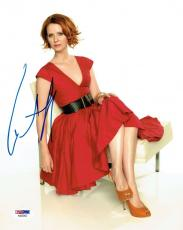 Cynthia Nixon Signed Authentic Autographed 8x10 Photo PSA/DNA #AB25002