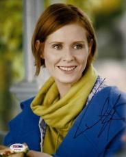 Cynthia Nixon Signed Auto Sex & the City 8x10 Photo PSA
