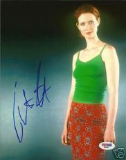 Cynthia Nixon Signed Auto'd SEXY 8x10 Photo PSA/DNA COA