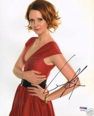Cynthia Nixon Signed Sex and the City 8x10 Photo PSA/DNA COA Picture Autograph