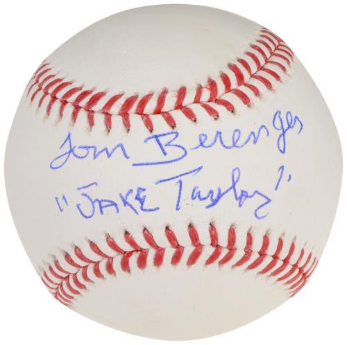 Tom Berenger Autographed Baseball with Jake Taylor Inscription - Beckett COA