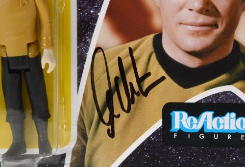 William Shatner Autographed Captain Kirk Action Figure - Beckett COA