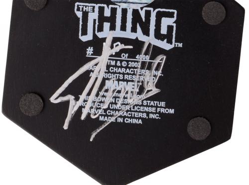 Stan Lee Autographed The Thing Mini Statue with Silver Ink - BAS COA