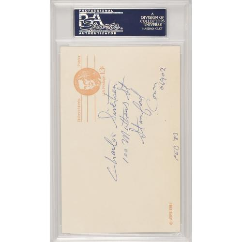Johnny Carson Autographed Cut Signature - PSA 83870974
