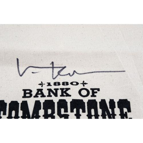 Val Kilmer Tombstone Autographed Money Bag - BAS