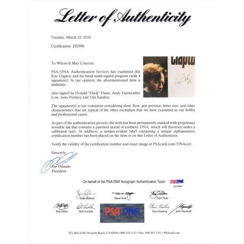 Eric Clapton Autographed Blue Album - PSA/DNA