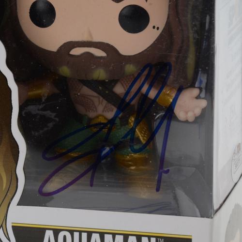 Jason Momoa Batman Vs. Superman Autographed #87 Aquaman Funko Pop! - JSA
