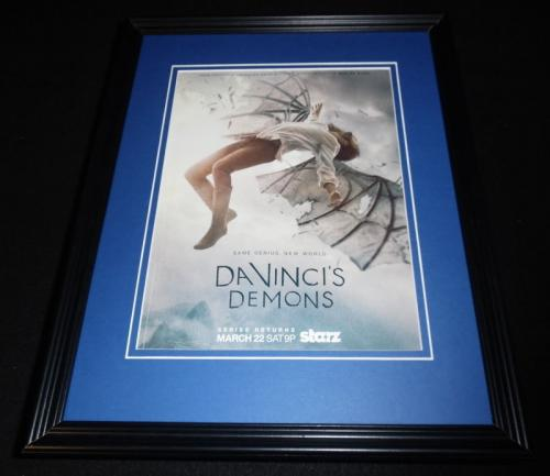 Da Vinci's Demons 2014 Starz Framed 11x14 ORIGINAL Vintage Advertisement