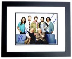 DADS Cast Autographed 11x14 inch Photo - Signed by Seth Green, Giovanni Ribisi, Peter Riegert, Martin Mull, and Tonita Castro (Deceased 2016) - BLACK CUSTOM FRAME - Guaranteed to pass PSA or JSA