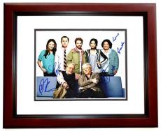 DADS Cast Autographed 11x14 inch Photo - Signed by Seth Green, Giovanni Ribisi, Peter Riegert, Martin Mull, and Tonita Castro (Deceased 2016) - MAHOGANY CUSTOM FRAME - Guaranteed to pass PSA or JSA
