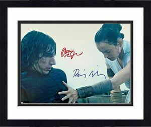 Daisy Ridley Adam Driver Signed 11x14 Star Wars Photo Rey Ren Beckett Witnessed