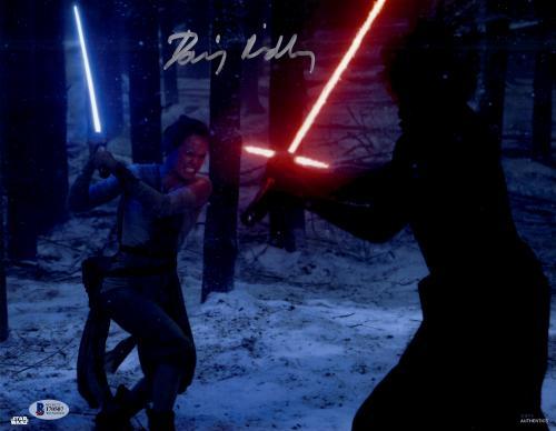 "Daisy Ridley Autographed 11"" x 14"" Star Wars The Force Awakens Fighting Kylo Ren Photograph - Beckett"
