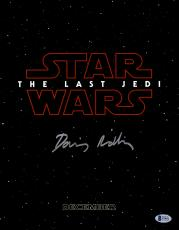 "Daisy Ridley Autographed 11"" x 14"" Star Wars The Last Jedi Photograph - Beckett"