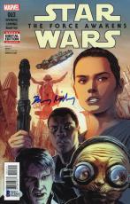 Daisy Ridley Autographed Star Wars The Force Awakens 003 Comic Book - Beckett