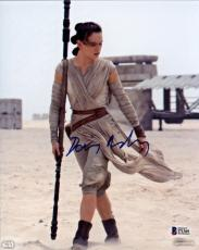 Daisy Ridley Signed Star Wars The Force Awakens 8x10 Photo 2 - Rey Beckett BAS