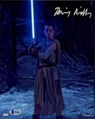 Daisy Ridley Signed Star Wars The Force Awakens 8x10 Photo 4 - Rey Beckett BAS