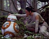 Daisy Ridley Signed Star Wars The Force Awakens 8x10 Photo 6 - Rey Beckett BAS
