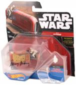 Daisy Ridley Autographed Star Wars The Force Awakens Hot Wheels Die Cast  Rey's Speeder Action Figure - PSA/DNA