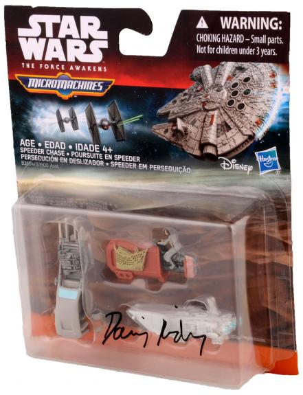 Daisy Ridley Autographed Star Wars The Force Awakens Micro machines Speeder Chaser Action Figure - PSA/DNA
