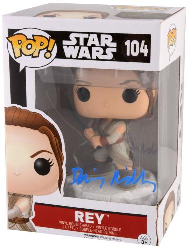 Daisy Ridley Autographed Star Wars The Force Awakens POP #104 FUNKO